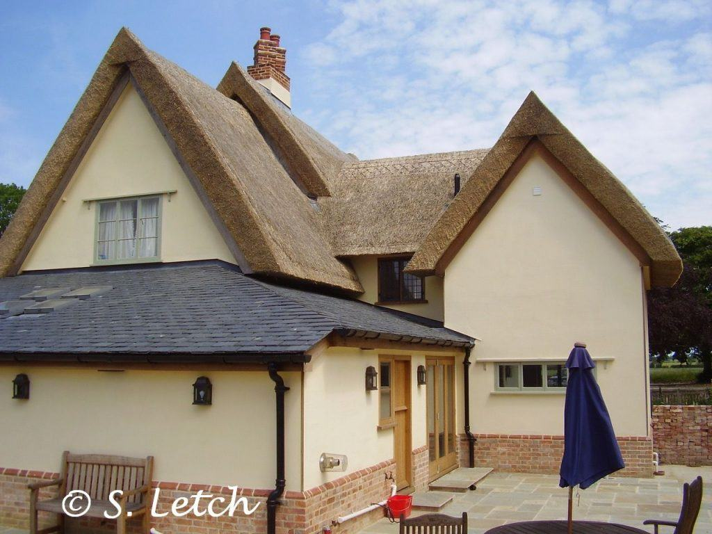 East Anglia Thatch Long Straw cut gable ends