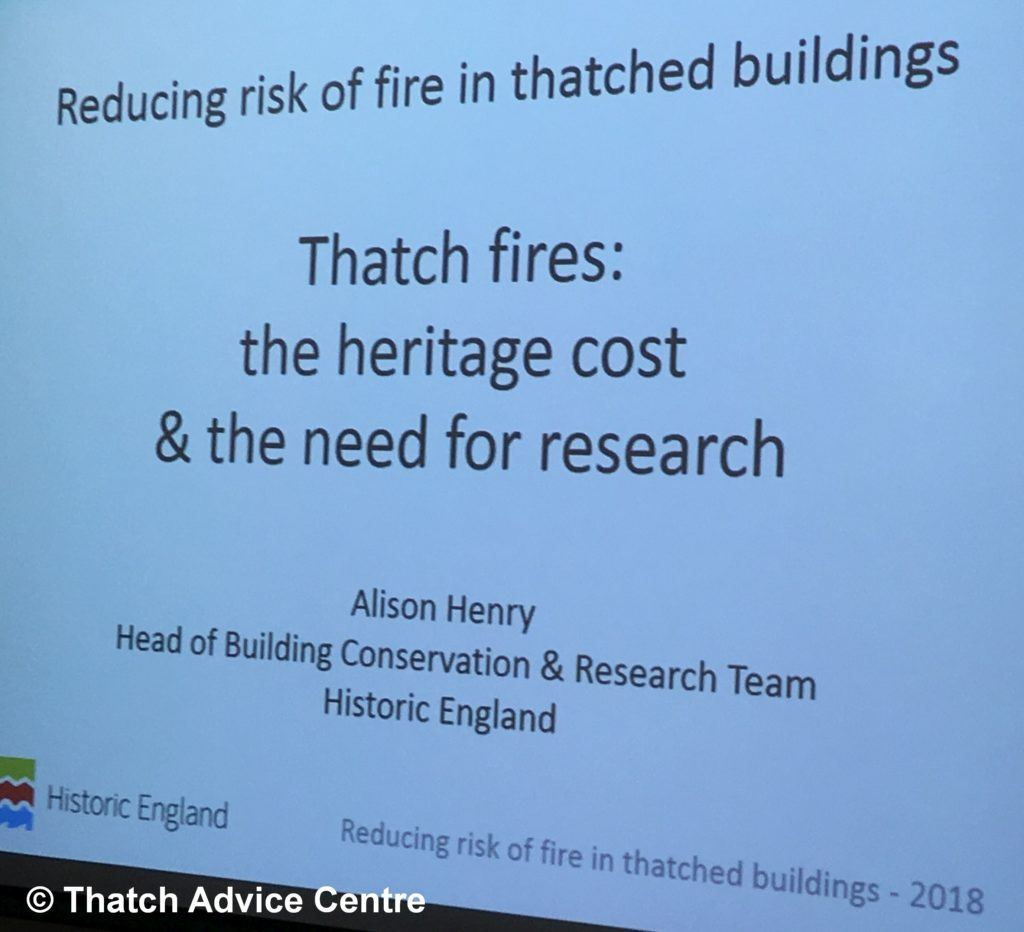 Thatch Fire Seminar Nov 18 - thatch Fires heritage perspective
