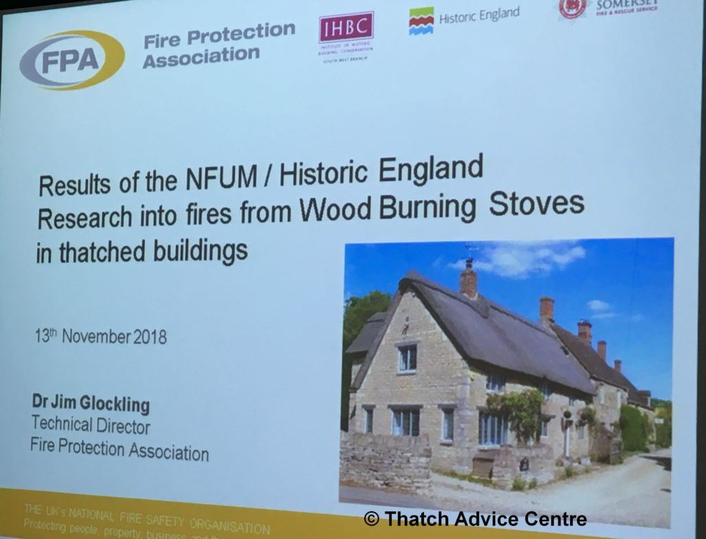 Thatch Fire Seminar Nov 18 FPA Research into fires in thatch