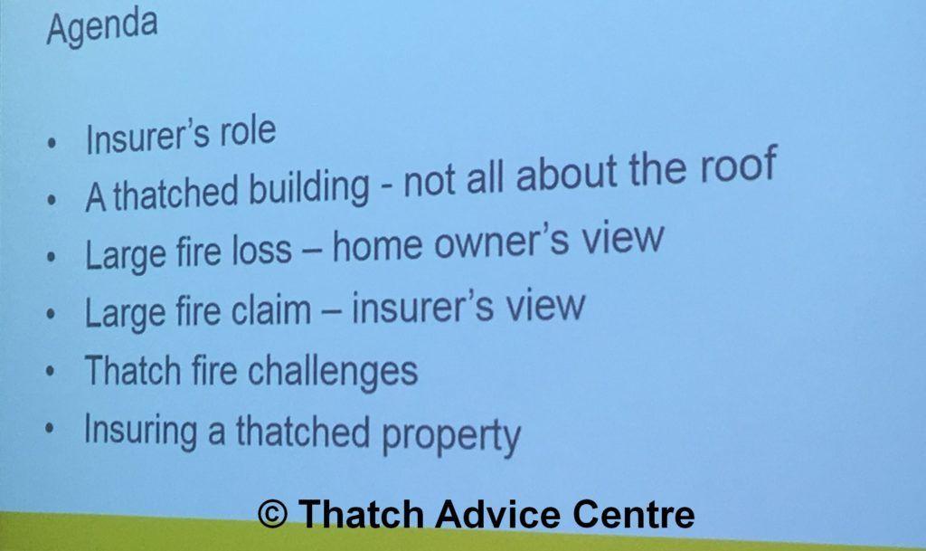 Thatch Fire Seminar Nov 18 - thatch fires insurers perspective