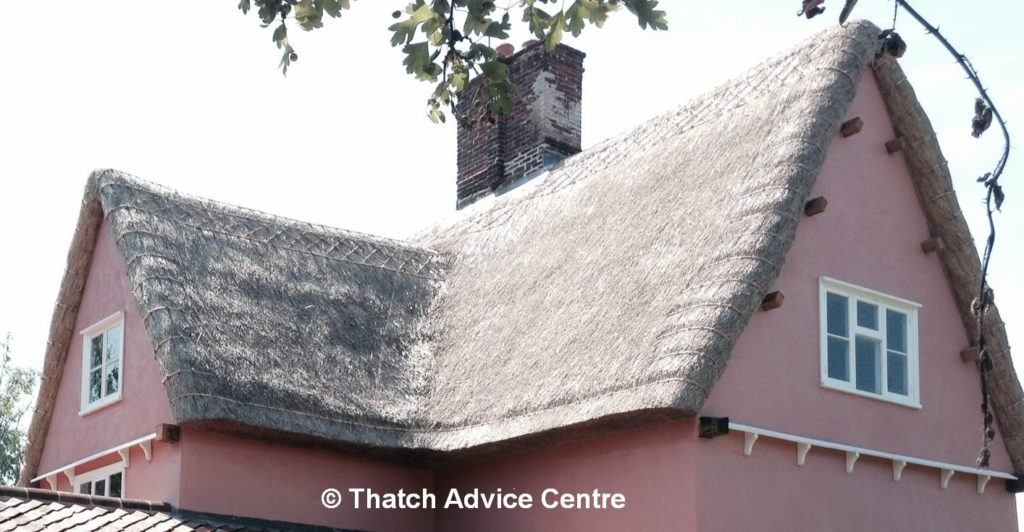Spars and liggers on thatched roof