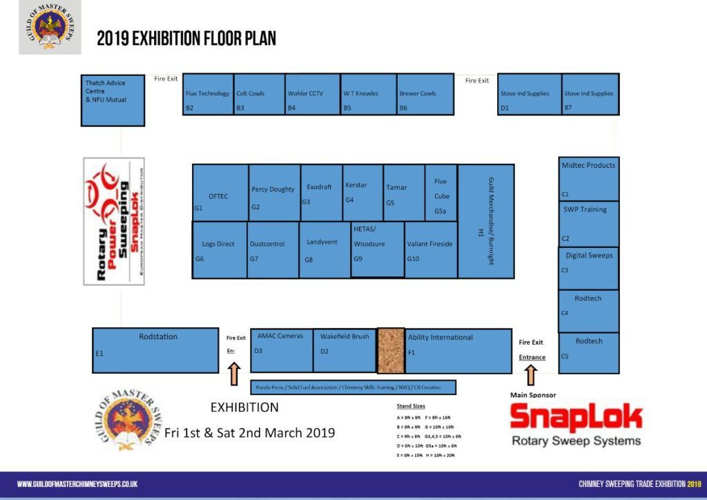 GOMCS 2019 Exhibition Floor plan