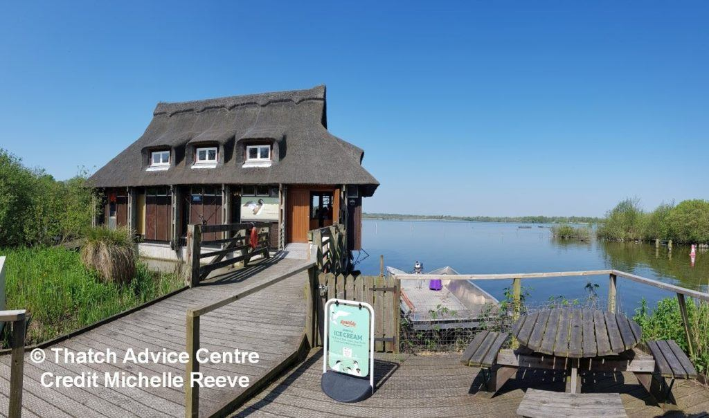 Ranworth Broad Visitor Centre - looking out to the water