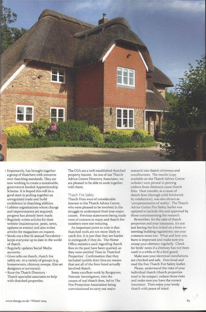 CGA Magazine Article on Thatch Advice Centre Page 2