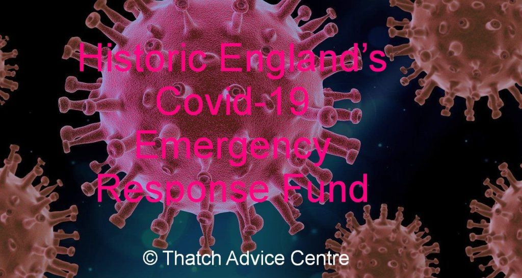 Letting you know about Historic Englands Covid-19 Emergency Response Fund