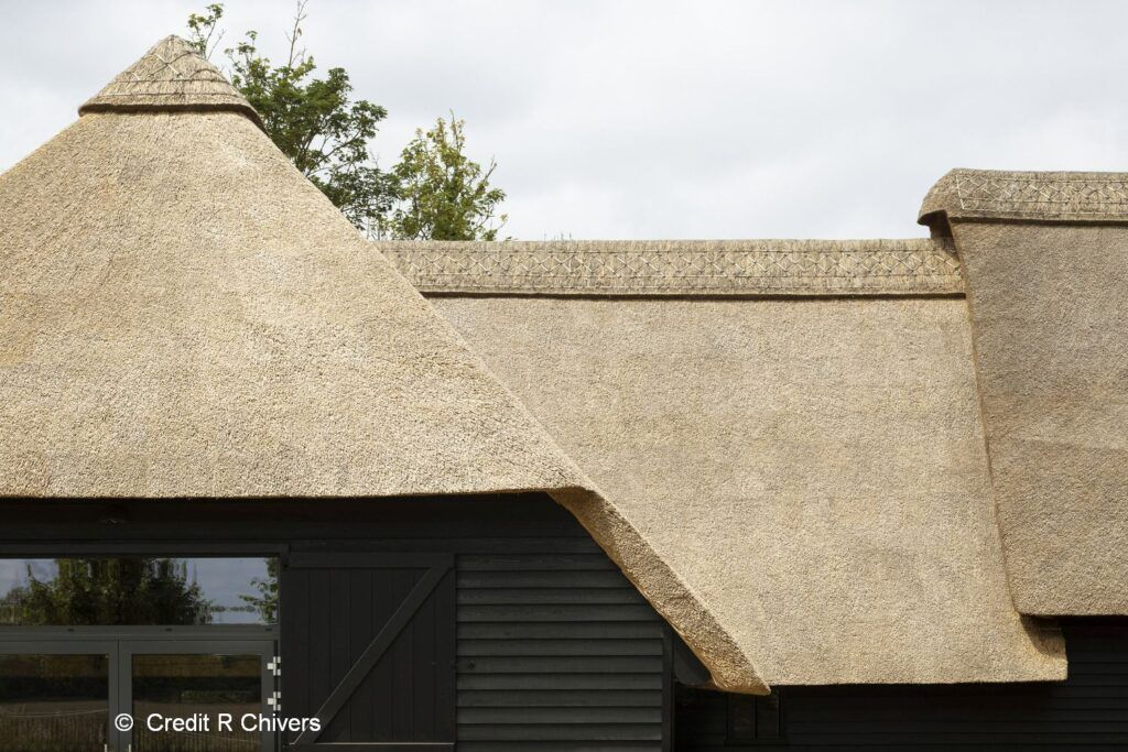 Christ Church Visitor Centre Oxford, thatched roof detail