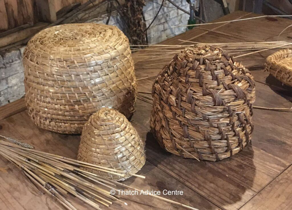 Bee Skeps - alternative uses of thatching materials