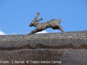 Thatch Finial Fun rabbit - credit L Barrett