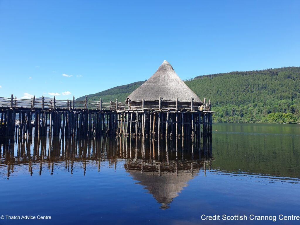 Thatch Advice Centre article - Scottish Crannog Centre lake view