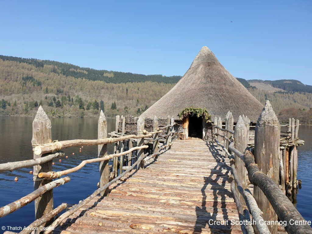 Thatch Advice Centre Crannog article - Scottish Crannog Centre bridge view